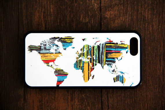 Ethnic World Map iPhone 6s 6 plus case iPhone 6s rubber case Aztec iPhone 5s 5 5c silicone case Retro iPhone 6 Case - Apple iPhone Xs/iPhone Xr case by Retina Designs