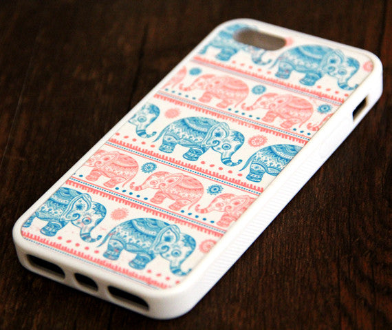 Ethnic Pink Elephant iPhone 6s 6 plus case iPhone 6s rubber case Cute iPhone 5s 5 5c silicone case Animal iPhone 6 Case - Apple iPhone Xs/iPhone Xr case by Retina Designs