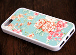 Pink Floral iPhone 6s 6 plus case iPhone 6s rubber case Cute iPhone 5s 5 5c silicone case Green iPhone 6 Case - Apple iPhone Xs/iPhone Xr case by Retina Designs