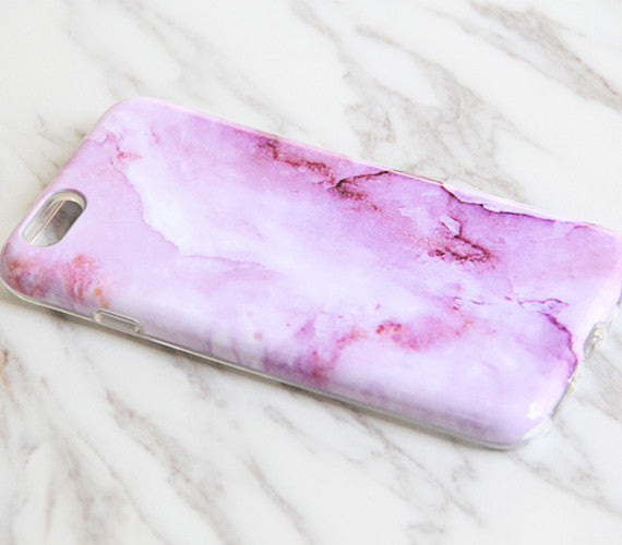 Stone Marble Pink Print Tough Protective iPhone XS Max Case Galaxy S8 plus S7 Edge SE Snap Case 3D 967