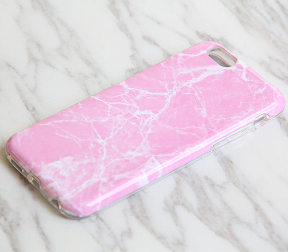 Pastel Pink Marble Print Tough Protective iPhone XS Max Case Galaxy S8 plus S7 Edge SE Snap Case 3D 969 - Apple iPhone Xs/iPhone Xr case by Retina Designs