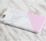 White Pink Marble Print Tough Protective iPhone XS Max Case Galaxy S8 plus S7 Edge SE Snap Case 3D M005 - Apple iPhone Xs/iPhone Xr case by Retina Designs