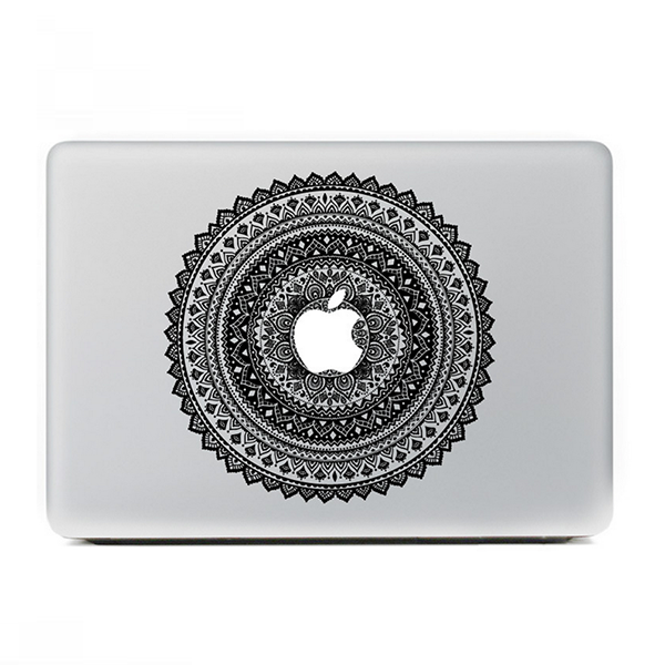"Black Tribal Floral MacBook Skin Decal Sticker for Apple Macbook Pro Air Mac 13"" inch Laptop 13 Inch N0014 - Apple iPhone Xs/iPhone Xr case by Retina Designs"