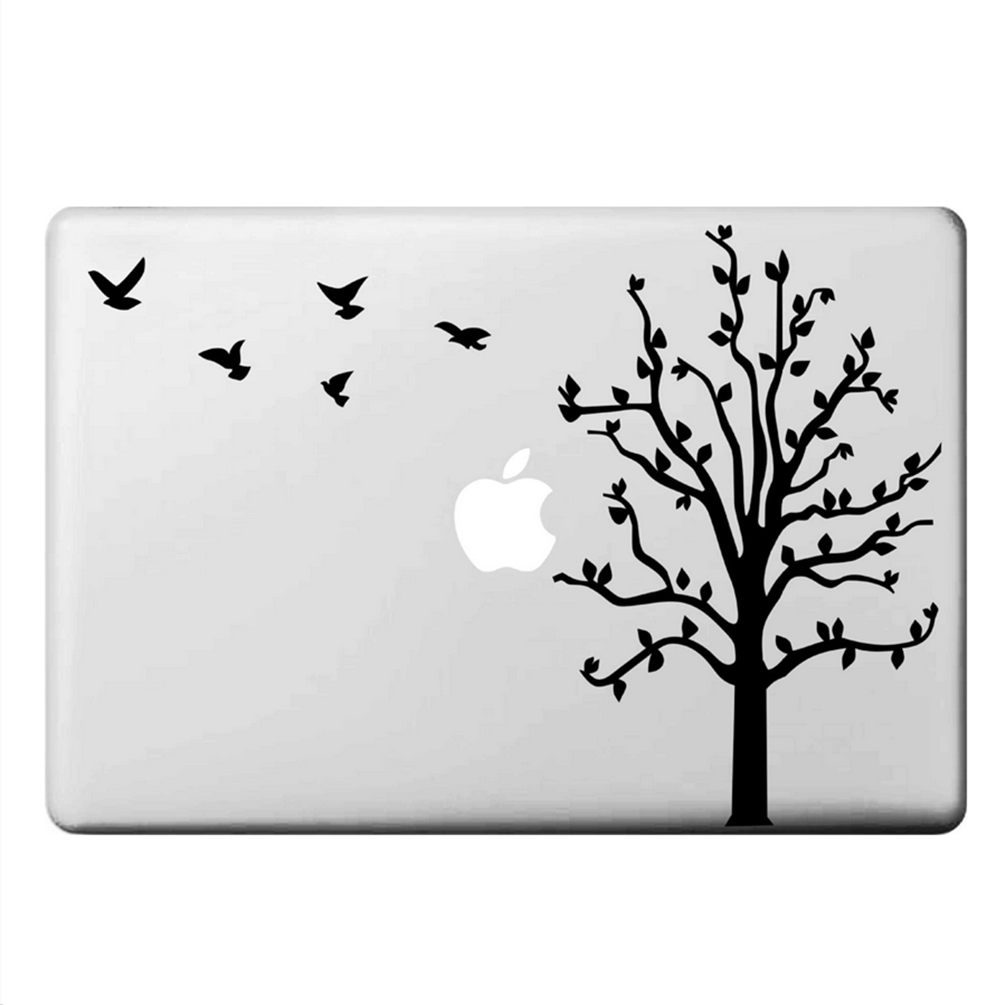 "Tree Birds MacBook Skin Decal Sticker for Apple Macbook Pro Air Mac 13"" inch Laptop 13 Inch N0015 - Apple iPhone Xs/iPhone Xr case by Retina Designs"