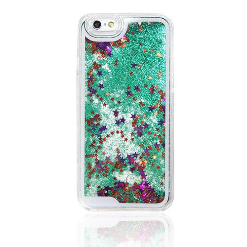 GREEN GLITTER WATERFALL IPHONE 6S/6 CASE IPHONE 6S/6 PLUS CASE IPHONE 5S/5/5C CASE N0002 - Apple iPhone Xs/iPhone Xr case by Retina Designs