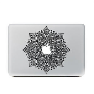 "Black Mandala Floral MacBook Skin Decal Sticker for Apple Macbook Pro Air Mac 13"" inch Laptop 13 Inch N0009-1 - Apple iPhone Xs/iPhone Xr case by Retina Designs"