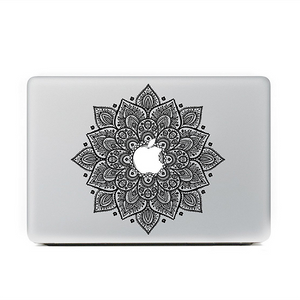 "Black Mandala Floral MacBook Skin Decal Sticker for Apple Macbook Pro Air Mac 13"" inch Laptop 13 Inch N0009 - Apple iPhone Xs/iPhone Xr case by Retina Designs"