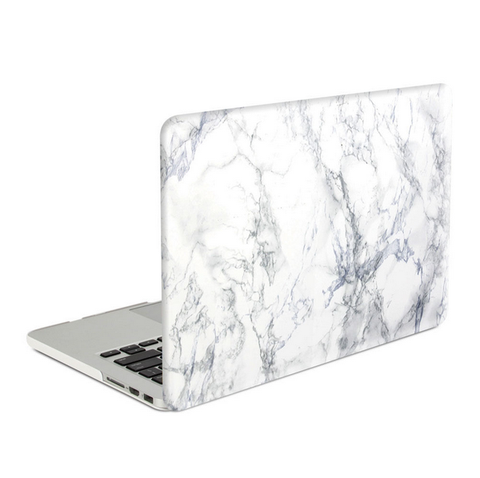 new product 9f013 baf2c MacBook Case Frosted White Marble Hard Cover for Macbook Air Pro Retina 13  15 inch -N0018