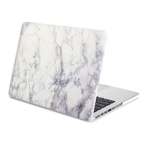 MacBook Case Frosted White Marble Hard Cover for Macbook Air Pro Retina 13 15 inch -N0018 - Apple iPhone Xs/iPhone Xr case by Retina Designs