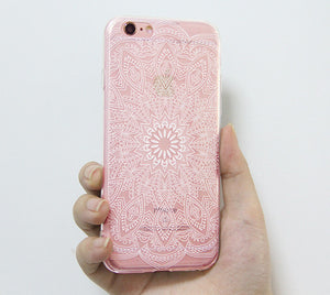 brand new 617e0 dfc54 iPhone 6S Clear Case iPhone 6 Transparent Case iPhone 6s 6 Plus Soft Slim  Thin Durable Protective Case Retro White Floral N0037-1