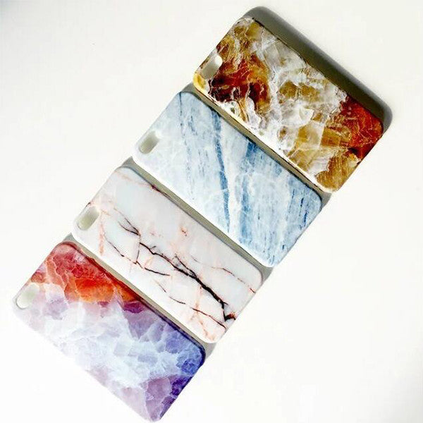 Marble iPhone 6S 6 soft rubber case with Tempered Glass Screen Protector S007 - Apple iPhone Xs/iPhone Xr case by Retina Designs