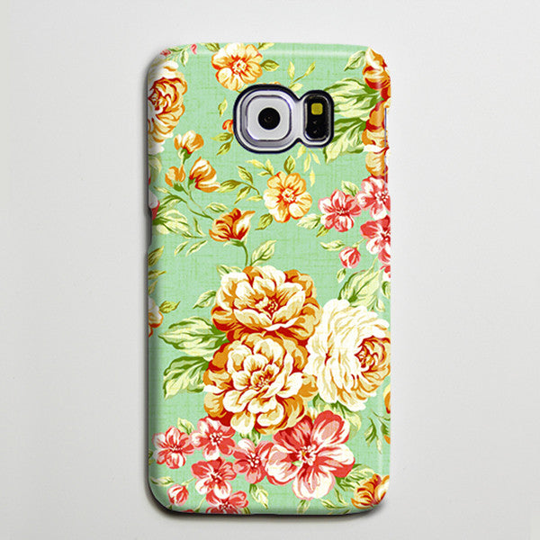 Floral Peonies Red Roses Galaxy s6 Edge Plus Case Galaxy s6 s5 Case Samsung Galaxy Note 5 4 3 Phone Case s6-019