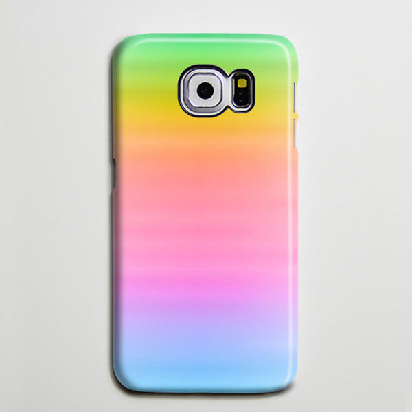 Pastel Pink Rainbow Galaxy S8 Plus Case Galaxy S7 Case Abstract Samsung Galaxy Note 5  Case s6-001 - Retina Designs