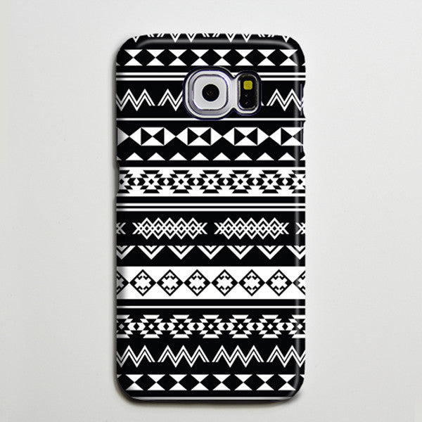 Black White Tribal Ethnic Aztec Galaxy s6 Edge Plus Case Galaxy s6 s5 Case Samsung Galaxy Note 5 4 3 Phone Case s6-024