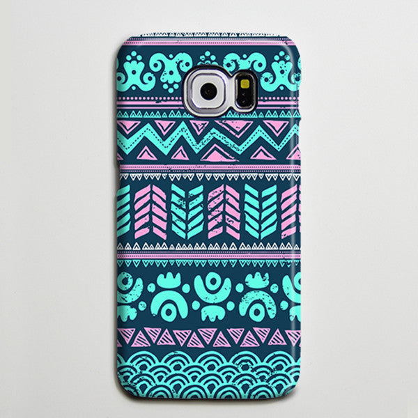 Turquoise Aztec Tribal Retro Galaxy S8 Plus Case Galaxy S7 Case Samsung Galaxy Note 5  Phone Case s6-034 - Apple iPhone Xs/iPhone Xr case by Retina Designs