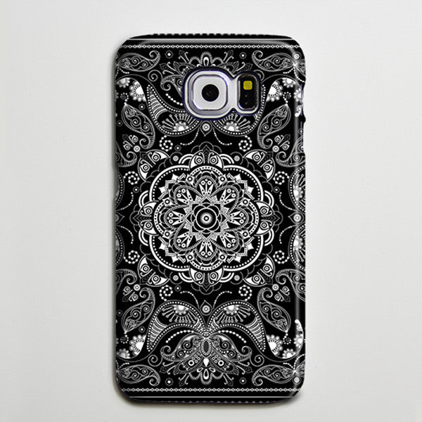 Vintage Black White Floral Galaxy S8 Plus Case Galaxy S7 Case Samsung Galaxy Note 5  Phone Case s6-040 - Apple iPhone Xs/iPhone Xr case by Retina Designs