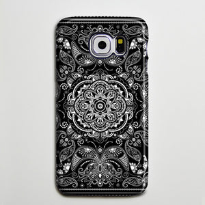 Vintage Black White Floral Galaxy S8 Plus Case Galaxy S7 Case Samsung Galaxy Note 5  Phone Case s6-040