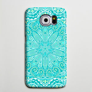 Teal Green Floral Tribal Turquoise Galaxy S8 Plus Case Galaxy S7 Case Samsung Galaxy Note 5  Phone Case s6-050 - Retina Designs