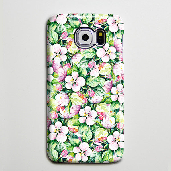 Green Pink Floral Ethnic Galaxy S8 Plus Case Galaxy S7 Case Samsung Galaxy Note 5  Phone Case s6-073 - Apple iPhone Xs/iPhone Xr case by Retina Designs