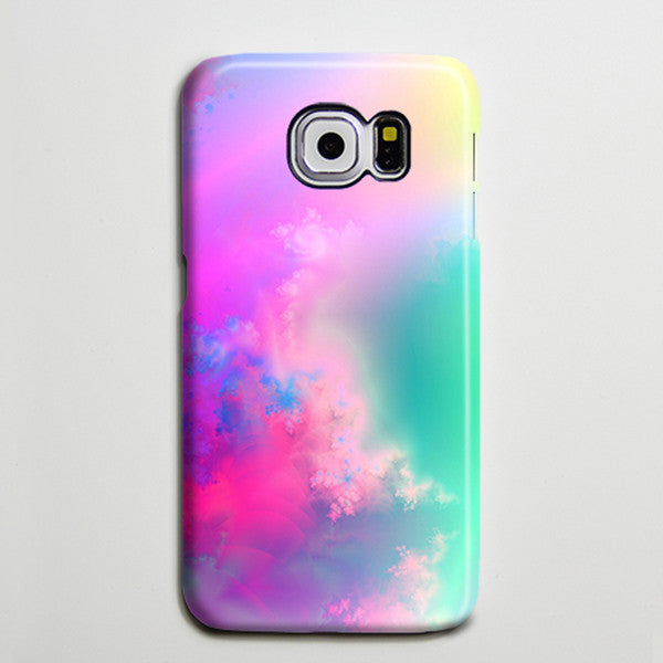 Pastel Pink Turquoise Abstract Sky Galaxy S8 Plus Case Galaxy S7 Case Samsung Galaxy Note 5  Phone Case s6-082 - Apple iPhone Xs/iPhone Xr case by Retina Designs