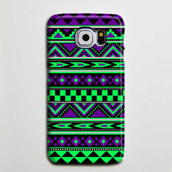 Violet Green Tribal Ethnic Aztec Turquoise Galaxy S8 Plus Case Galaxy S7 Case Samsung Galaxy Note 5  Phone Case s6-084