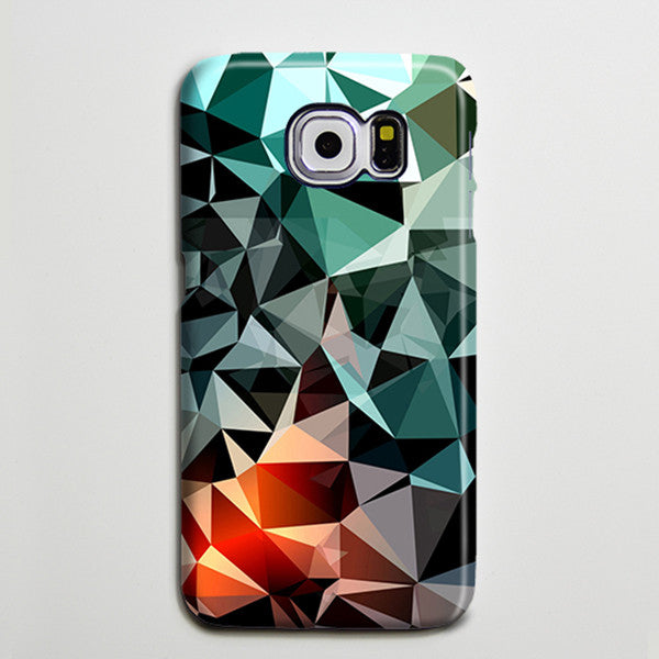 Green Triangle Geometric Optical Galaxy s6 Edge Plus Case Galaxy s6 s5 Case Samsung Galaxy Note 5 4 3 Phone Case s6-131