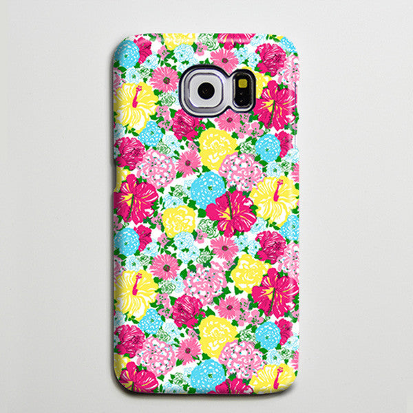 Seamless Colorful Flowers iPhone 6 Galaxy s6 Edge Case Galaxy s6 Case Samsung Galaxy Note 5 Case s6-139