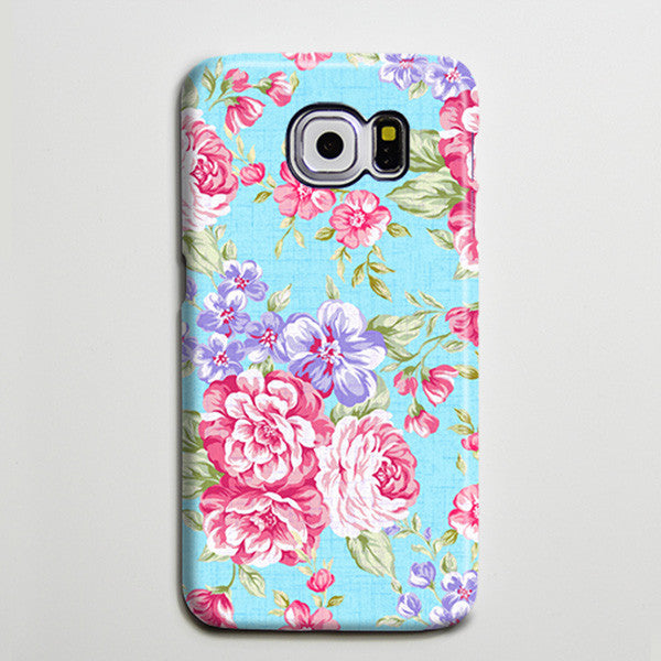 Classic Floral iPhone XS Max Galaxy S8 Case  Case Samsung Galaxy Note 5 Case s6-142 - Apple iPhone Xs/iPhone Xr case by Retina Designs