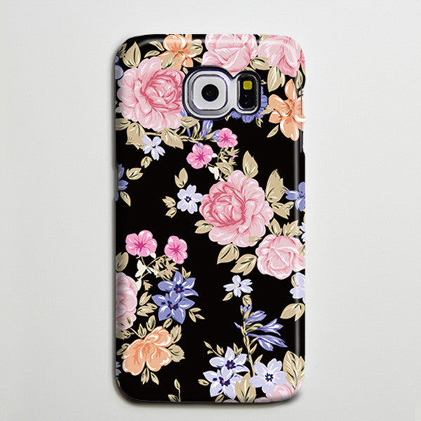 Classic Retro Floral iPhone 6 Galaxy s6 Edge Case Galaxy s6 Case Samsung Galaxy Note 5 Case s6-143