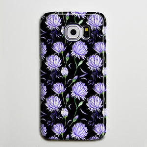 Black Violet Chic Floral iPhone XS Max Galaxy S8 Case  Case Samsung Galaxy Note 5 Case s6-146 - Apple iPhone Xs/iPhone Xr case by Retina Designs
