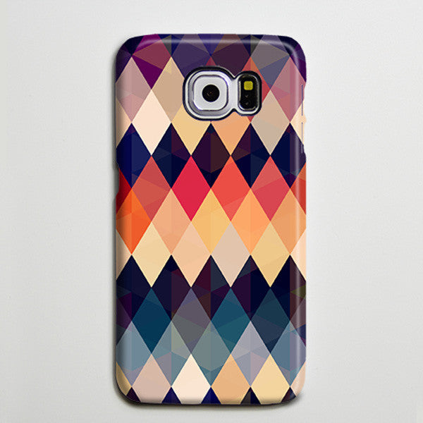 Rhombus Colors Galaxy S8 Plus Case Galaxy S7 Case Samsung Galaxy Note 5 Phone Case s6-178