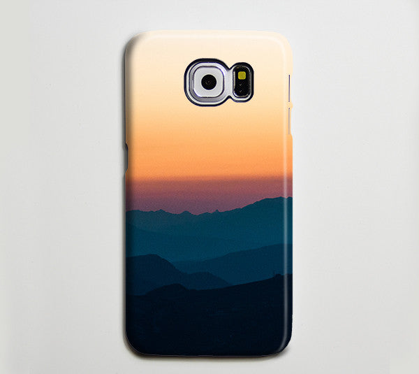 Sunset Valley Mountain Landscape Galaxy S8 Case iPhone 8c Case Galaxy S8 Plus Case 183 - Apple iPhone Xs/iPhone Xr case by Retina Designs