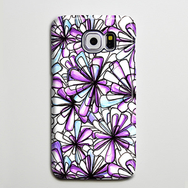 Purple Flowers Crystals iPhone XS Max Case Galaxy S8 Plus Case Galaxy S7 Case Samsung Galaxy Note 5 Case s6-020 - Apple iPhone Xs/iPhone Xr case by Retina Designs