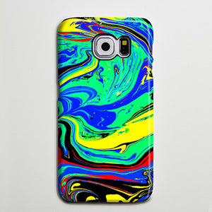 Watercolor Turquoise Blue Yellow iPhone XS Max Case Swirl Galaxy S8 Plus Case  Case Samsung Galaxy Note 5 Case s6-046