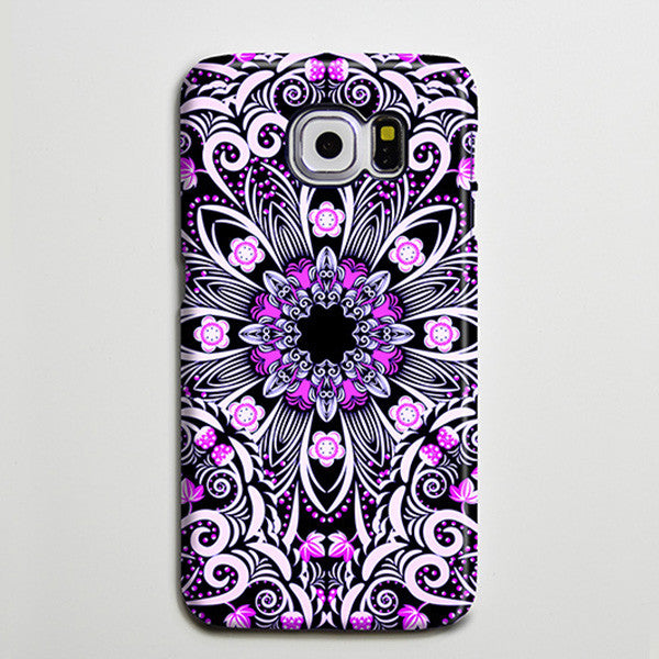 Native Purple Floral Flowers iPhone XS Max Case Galaxy S8 Plus Case  Case Samsung Galaxy Note 5 Case s6-047 - Apple iPhone Xs/iPhone Xr case by Retina Designs