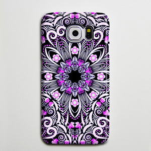 Native Purple Floral Flowers iPhone XS Max Case Galaxy S8 Plus Case  Case Samsung Galaxy Note 5 Case s6-047 - Retina Designs