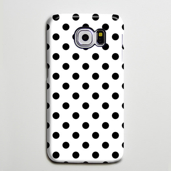 Polka Dots Black White iPhone XS Max Case Galaxy S8 Plus Case  Case Samsung Galaxy Note 5 Case s6-052 - Apple iPhone Xs/iPhone Xr case by Retina Designs
