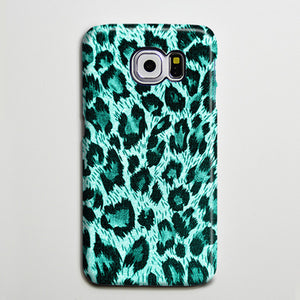Turquoise Leopard iPhone XS Max Case Galaxy S8 Plus Case  Case Samsung Galaxy Note 5 Case s6-054