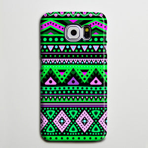 Aztec Turquoise Galaxy Edge Case Plus  Samsung Galaxy Note 5 Case s6-074 - Apple iPhone Xs/iPhone Xr case by Retina Designs