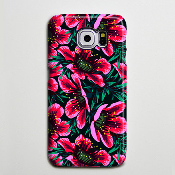 Pink Chic Floral Galaxy S8 Plus Case Galaxy S7 Case Samsung Galaxy Note 5  Phone Case s6-sw01 - Apple iPhone Xs/iPhone Xr case by Retina Designs