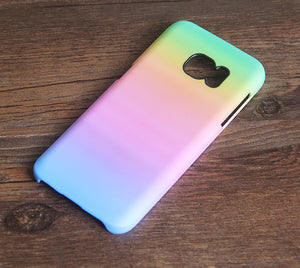 Pastel Pink Rainbow Galaxy S8 SE Case  Case Galaxy S7 Edge Plus Case 001 - Apple iPhone Xs/iPhone Xr case by Retina Designs