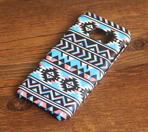 Aztec Chevron Geometric Galaxy S8 SE Case  Case Galaxy S7 Edge Plus Case 032 - Apple iPhone Xs/iPhone Xr case by Retina Designs