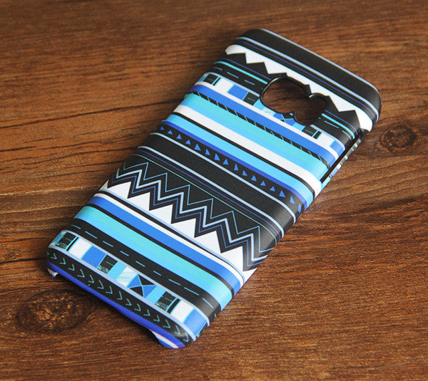 Blue Tribal Galaxy S8 SE Case  Case Galaxy S7 Edge Plus Case 033 - Apple iPhone Xs/iPhone Xr case by Retina Designs