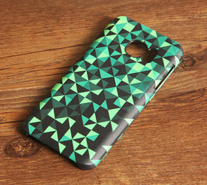 Green Geometric Triangle Galaxy S8 SE Case  Case Galaxy S7 Edge Plus Case 006 - Apple iPhone Xs/iPhone Xr case by Retina Designs