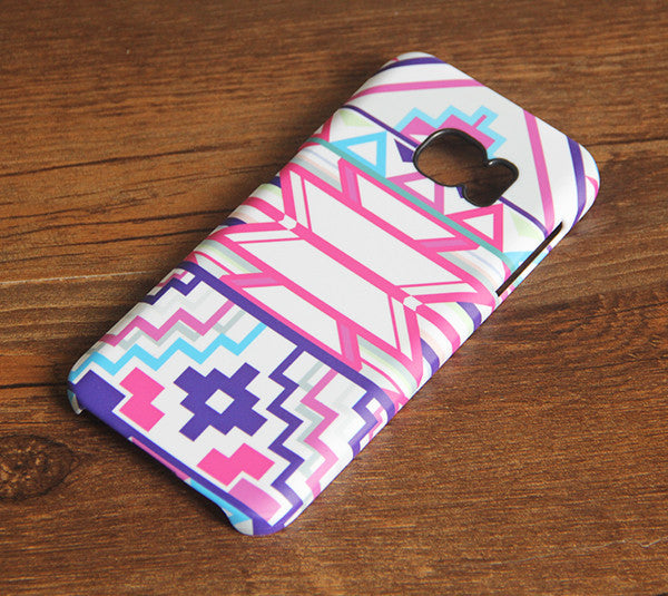Pink Ethnic Geometric Samsung Galaxy S7 Edge S7 Case Galaxy S8+  S3 Samsung Note 5/3/2 Cover S7-213 - Apple iPhone Xs/iPhone Xr case by Retina Designs