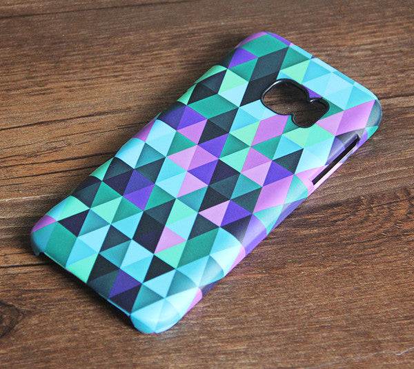 Colorful Geometric Triangle Samsung Galaxy S7 Edge S7 Case Galaxy S8+  S3 Samsung Note 5/3/2 Cover S7-215 - Apple iPhone Xs/iPhone Xr case by Retina Designs
