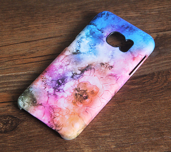 Nebula Floral Samsung Galaxy S7 Edge S7 Case Galaxy S6 edge+ S5 S4 S3 Samsung Note 5/4/3/2 Cover S7-221