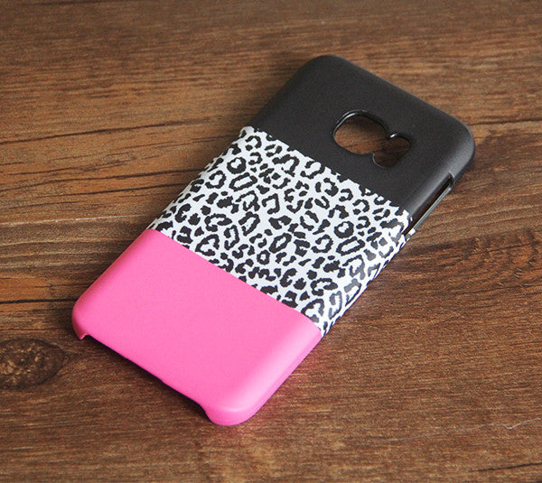 Black Pink Leopard Pattern Galaxy S7 Edge S7 SE Case Galaxy S6 edge+ S5 S4 Samsung Note 5 Cover S7-260