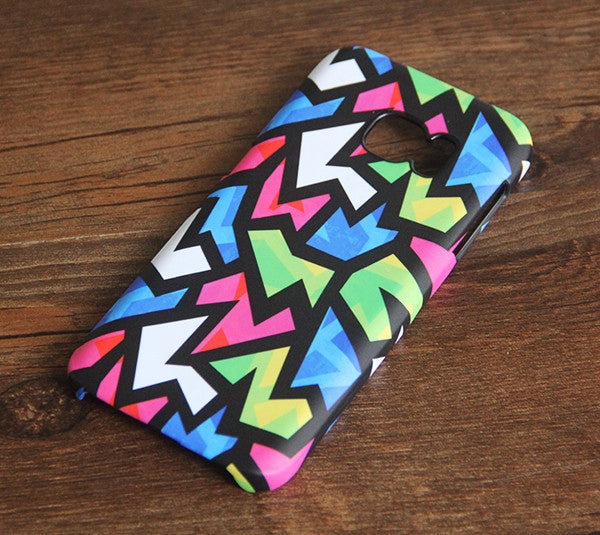 Color Zigzag Geometric Galaxy S7 Edge S7 SE Case Galaxy S8+  Samsung Note 5 Cover S7-320 - Apple iPhone Xs/iPhone Xr case by Retina Designs