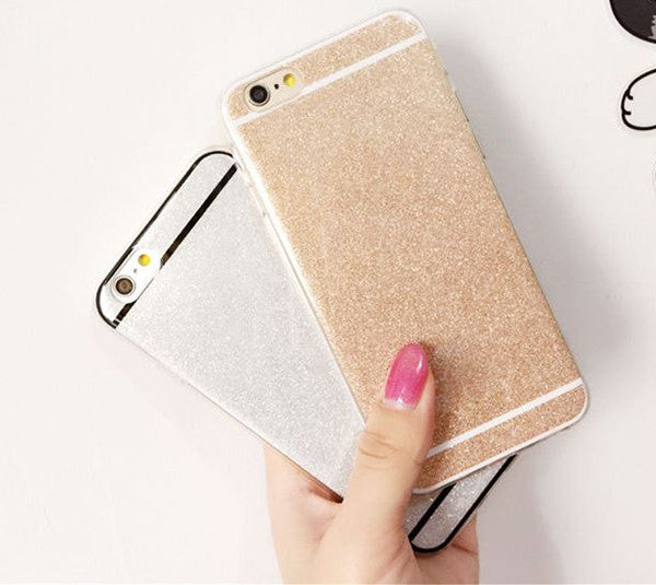 Luxury Bling Glitter iPhone 6S 6 Plus 5S 5 SE Soft TPU Case Silver SJK-0001-7
